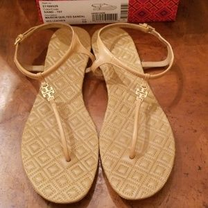 Tory Burch Marion Sandals Sand